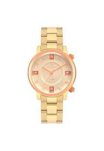 Relógio Technos Feminino Rocks Dourado Analógico 2039Ct1D