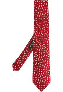 Etro Gravata De Seda Com Padronagem - Vermelho