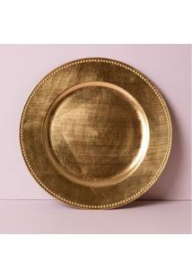 Sousplat Paititi Cor: Ouro - Tamanho: Único