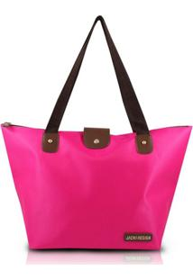 Bolsa Dobrável Jacki Design Microfibra - Feminino-Pink