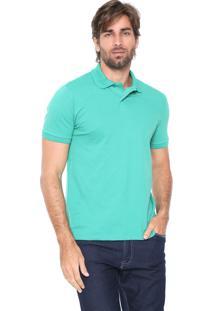 Camisa Polo Malwee Reta Básica Verde