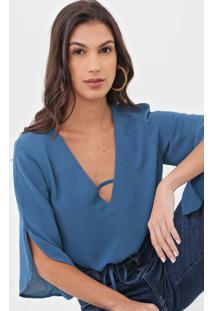 Blusa Maria Filó Argélia Azul