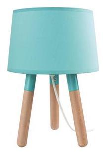 Luminária De Mesa Urban Madeira Stick Feet - Azul