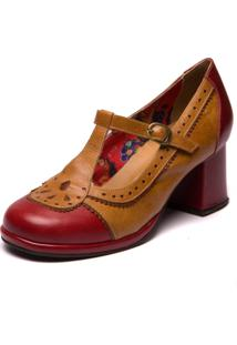 Sapato Mzq Grace Kelly - Amora/Tamarindo/Jatoba - 5828