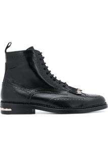 Toga Virilis Ankle Boot Com Franjas - Preto