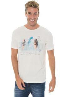 Camiseta Timberland Brazilian Feather Masculina - Masculino-Branco