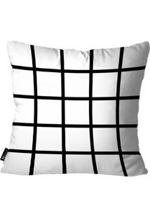 Capa Para Almofada Mdecore Abstrato Branco 55X55Cm