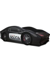 Cama Carro Rw Polícia Preto