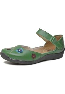 Sandália Feminina Boneca Touro Boots Verde - Kanui