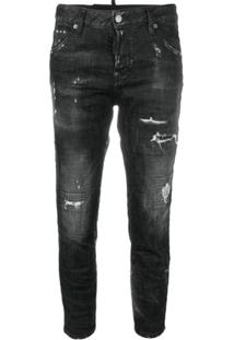 Dsquared2 Calça Jeans Destroyed - Preto