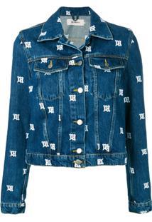 Misbhv All-Over Logo Denim Jacket - Azul