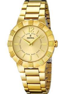Relógio Festina Feminino Aço Dourado - F16732/2