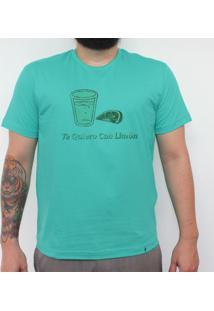 Te Quiero Con Limon - Camiseta Clássica Masculina