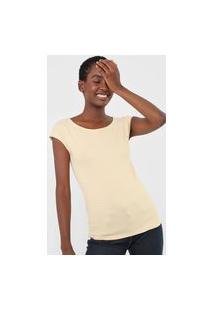 Blusa Gap Listrada Off-White/Amarelo