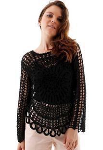 Blusa Crochet Rendado Margarida