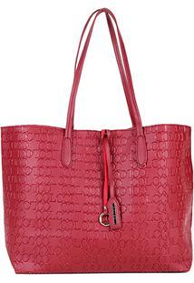 Bolsa Colcci Tote Shopper Logo Feminina - Feminino-Vinho