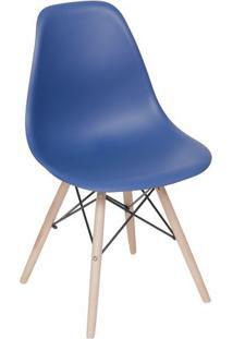 Cadeira Eames Dkr- Azul Marinho & Madeira Clara- 80,Or Design