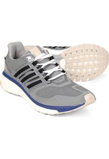 Tênis Adidas Energy Boost 3 Masculino - Masculino-Cinza+Azul