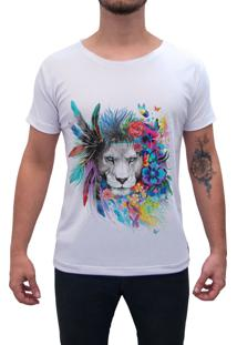 Camiseta Estampada Impermanence Leão Branca