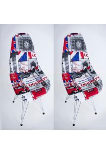 Kit Com 02 Capas Para Cadeira Charles Eames Eiffel Wood Londres - Kanui