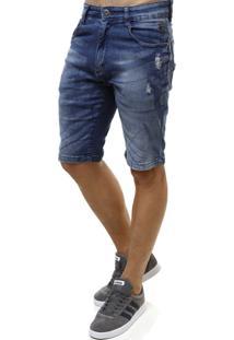 Bermuda Jeans Gangster Masculina - Masculino-Jeans