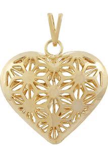 Pingente Narcizza Semijoias Coração Ouro