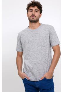Camiseta Básica Com Bolso Mescla
