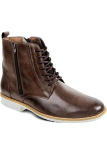 Bota Couro Sandro & Co.Dress Boot Masculino - Masculino-Café