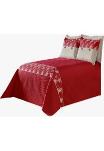 Cobre Leito Mait㪠Casal Queen 5 Peã§As Vermelho - Multicolorido - Dafiti