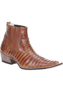 Bota Couro Via Boot Masculina - Masculino-Marrom