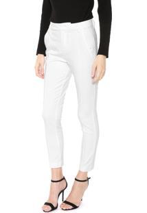 Calça Calvin Klein Chino Alfaiataria Off-White