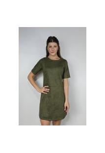 Vestido Dona Popi Suede Juli Verde Militar