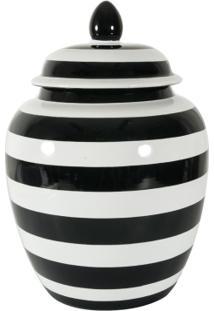 Cachepot Em Cerâmica Stripes Grande