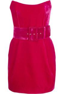 Rasario Vestido Tomara Que Caia De Veludo - Rosa