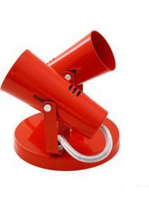 Spot Focus Para 2 Lâmpadas E27 Vermelho Auremar