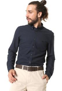 Camisa Lacoste Slim Lisa Preta