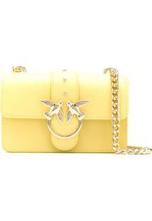 Pinko Bolsa Transversal Love Mini - Amarelo