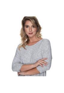 Blusa Simone Saga Gola Canoa Off White
