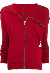 Rick Owens Drkshdw Zipped-Up Sweatshirt - Vermelho
