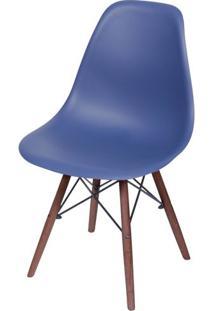 Cadeira Eames Polipropileno Azul Marinho Fosco Base Escura - 49336 Sun House