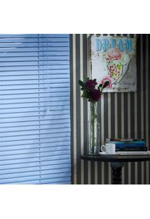 Persiana Horizontal Em Alumínio 25Mm Color 1,60Larg X 1,60Alt Azul