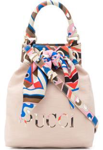 Emilio Pucci Printed Panels Bucket Bag - Neutro