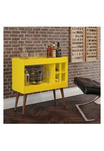 Aparador Bar Com Adega Coffee Break - Amarelo - Rpm Móveis