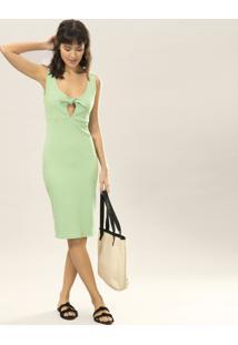 Vestido Mídi Recorte Laço Verde Inspire - Lez A Lez