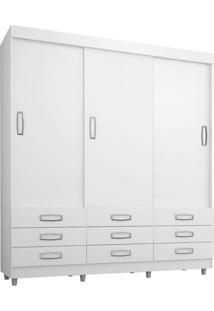 Guarda-Roupa Casal Enzo Flex 3 Pt Branco E Preto
