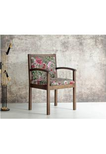Cadeira Estofada Dália - Estampa Floral - Tommy Design
