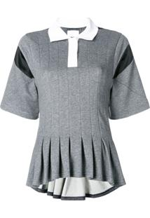 ... Koché Camisa Polo Com Contraste - Cinza 0596d75d7e2e1
