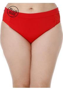 Calcinha De Biquíni Plus Size Feminino Vermelho