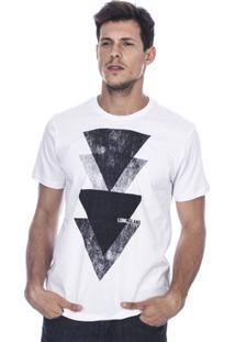 Camiseta Long Island Triângulos Masculina - Masculino-Branco