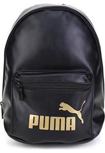 Mochila Puma Core Up Archive - Unissex-Preto+Dourado